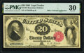 Large Size:Legal Tender Notes, Fr. 140 $20 1880 Legal Tender PMG Very Fine 30.. ...