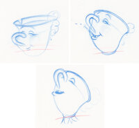 Beauty and the Beast Chip Animation Drawings Group of 3 (Walt Disney, 1991).... (Total: 3 )