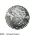 Morgan Dollars: , 1887-S $1 MS65 PCGS. Even though a large number of 1887-...