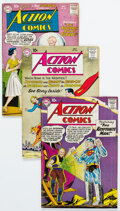 Silver Age (1956-1969):Superhero, Action Comics Group of 8 (DC, 1959-65) Condition: Average VG.... (Total: 8 Comic Books)