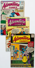 Silver Age (1956-1969):Superhero, Adventure Comics Group of 5 (DC, 1958-60) Condition: Average VG.... (Total: 5 Comic Books)