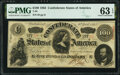 Confederate Notes:1863 Issues, T56 $100 1863 PF-1 Cr. 403 PMG Choice Uncirculated 63 EPQ.. ...