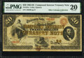 Fr. 191a $20 1864 Compound Interest Treasury Note PMG Very Fine 20