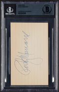 Autographs:Index Cards, Rocky Marciano Signed Index Card, Beckett Authentication Services. ...