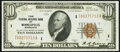 Fr. 1860-I $10 1929 Federal Reserve Bank Note. Choice About Uncirculated