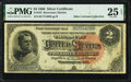 Large Size:Silver Certificates, Fr. 243 $2 1886 Silver Certificate PMG Very Fine 25 EPQ.. ...