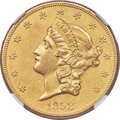 1858-O $20 -- Cleaned -- NGC Details. AU. Variety 2,...(PCGS# 8924)