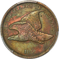 1856 P1C Flying Eagle Cent, Judd-185, Pollock-221, High R.7 -- Damage -- PCGS Genuine. AU Details....(PCGS# 11810)