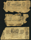 Kaskaskia, IL- Bank of Cairo $1; $2; $3 Dates faded Poor or Better. ... (Total: 3 notes)
