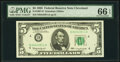 Fr. 1967-D $5 1963 Federal Reserve Note. PMG Gem Uncirculated 66 EPQ