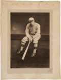 Baseball Collectibles:Photos, 1912 Honus Wagner Large Format Original Photograph with Wagner Family Provenance....