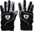 Football Collectibles:Others, 2002 Jerry Rice Game Worn & Inscribed Oakland Raiders Gloves Used to Catch Career TD #198 vs. the Bills on 10/6....
