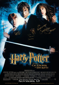 "Harry Potter and the Chamber of Secrets (Warner Bros., 2002). Rolled, Very Fine+. Autographed Bus Shelter (77.5"" X..."