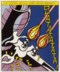 After Roy Lichtenstein As I Opened Fire, triptych, 1966 Offset lithographs in colors on smooth wove