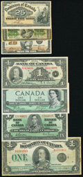 Canada Lot of 11 Examples Fine-Almost Uncirculated. ... (Total: 11 notes)