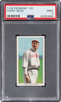 Baseball Cards:Singles (Pre-1930), 1909-11 T206 Piedmont 150 Harry Niles PSA Mint 9 - Pop Two, None Higher! ...