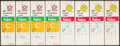 Football Collectibles:Tickets, 1982 Green Bay Packers Playoff Full Ticket Lot of 8.... (Total: 8 items)
