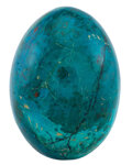 Lapidary Art:Eggs and Spheres, Chrysocolla Egg. Peru. 3.20 x 2.96 inches (8.13 x 7.51 cm). ...