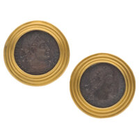 Ancient Roman Coins, Gold Earrings