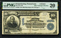 National Bank Notes:Pennsylvania, Nesquehoning, PA - $10 1902 Plain Back Fr. 628 The First National Bank Ch. # 10251 PMG Very Fine 20.