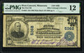National Bank Notes:Minnesota, West Concord, MN - $10 1902 Plain Back Fr. 633 The First National Bank Ch. # 5362 PMG Fine 12.. ...