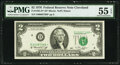Fr. 1935-D* $2 1976 Federal Reserve Note. PMG About Uncirculated 55 EPQ