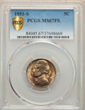 Jefferson Nickels: , 1951-S 5C MS67 Full Steps PCGS. The 1951-S claims a significantly smaller mintage than either of its Philadelphia or ...