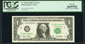 Mismatched Serial Numbers Fr. 1926-B $1 2001 Federal Reserve Note. PCGS Gem New 66PPQ