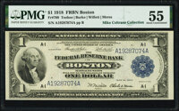 Fr. 709 $1 1918 Federal Reserve Bank Note PMG About Uncirculated 55