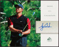 Golf Collectibles:Autographs, 2004 Tiger Woods Signed Upper Deck SP Signs of a Champion....