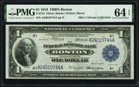 Fr. 710 $1 1918 Federal Reserve Bank Note PMG Choice Uncirculated 64 EPQ
