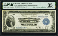 Fr. 713 $1 1918 Federal Reserve Bank Note PMG Choice Very Fine 35
