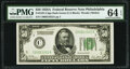 Small Size:Federal Reserve Notes, Fr. 2101-C $50 1928A Dark Green Seal Federal Reserve Note. PMG Choice Uncirculated 64 EPQ.. ...