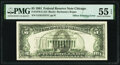 Full Face to Back Offset Error Fr. 1976-G $5 1981 Federal Reserve Note. PMG About Uncirculated 55 EPQ