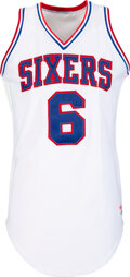 Basketball Collectibles:Uniforms, 1985 Julius Erving Game Worn & Signed Philadelphia 76ers Jersey with Team Provenance....