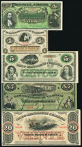 Argentina Remainder Group of 5 Examples Crisp Uncirculated. ... (Total: 5 notes)