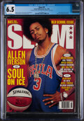 """Basketball Collectibles:Publications, 1999 Allen Iverson """"Slam"""" Magazine - CGC 6.5, Pop One with None Higher!..."""