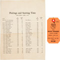 Golf Collectibles:Miscellaneous, 1941 The Masters Final Round Spectator's Badge with Pairings Sheet.... (Total: 2 items)