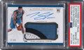 Basketball Cards:Singles (1980-Now), 2015 Panini National Treasures Karl Anthony Towns (Patch Autograph) #101 PSA Gem Mint 10, Auto 10 - #'d 77/99--Population 1! ...