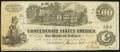 Confederate Notes:1862 Issues, Issued at San Antonio, TX T39 $100 1862 PF-1 Cr. 298 Very Fine.. ...