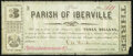 Obsoletes By State:Louisiana, Iberville, LA- Parish of Iberville $3 Mar 15, 1862 Very Good.. ...