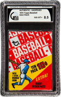 Baseball Cards:Unopened Packs/Display Boxes, 1970 Topps Baseball Unopened 10-Cent Wax Pack GAI NM-MT+ 8.5. ...