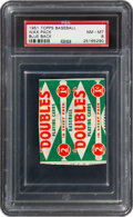 Baseball Cards:Unopened Packs/Display Boxes, 1951 Topps Baseball Red Back 1-Cent Unopened Wax Pack PSA ...