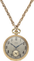 """Football Collectibles:Others, 1921 Walter Camp """"All-American"""" Pocket Watch Presented to Ernie Vick...."""