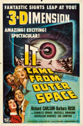 "Movie Posters:Science Fiction, It Came from Outer Space (Universal International, 1953). Folded, Fine+. One Sheet (27"" X 41"") 3-D Style, Joseph Smith Artwo..."