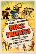 """Movie Posters:Comedy, Buck Privates (Universal, 1941). Very Fine- on Linen. One Sheet (27"""" X 41"""").. ..."""