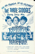 """Movie Posters:Comedy, The Three Stooges in Rumpus in the Harem (Columbia, 1956). Folded, Fine/Very Fine. One Sheet (27"""" X 41"""").. ..."""