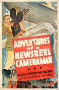 """Movie Posters:Short Subject, Adventures of a Newsreel Cameraman (20th Century Fox, 1930s). Folded, Fine/Very Fine. Stock One Sheet (27"""" X 41"""").. ..."""