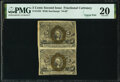 Fractional Currency:Second Issue, Fr. 1233 5¢ Second Issue Uncut Pair PMG Very Fine 20.. ...