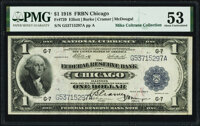 Fr. 729 $1 1918 Federal Reserve Bank Note PMG About Uncirculated 53